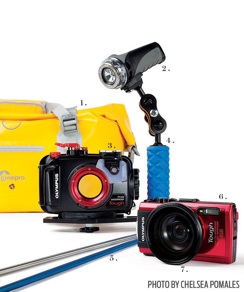 Underwater amateur camera equipment