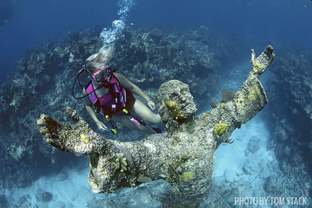 Christ Of The Abyss Statue Key Largo Florida
