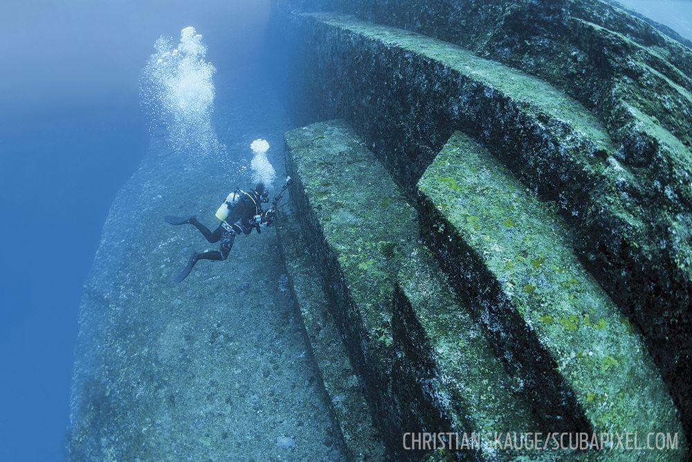 Yonaguni Japan Scuba Diving Sport Diver