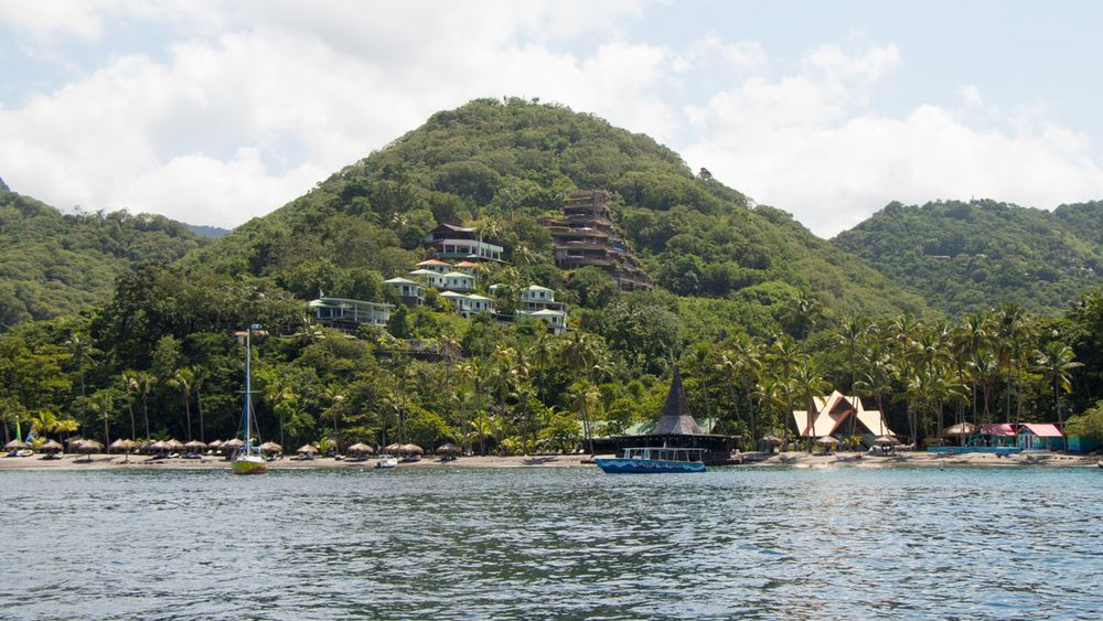 Anse Chastanet Beach Bar And Scuba St Lucia As Seen From The Dive Boat