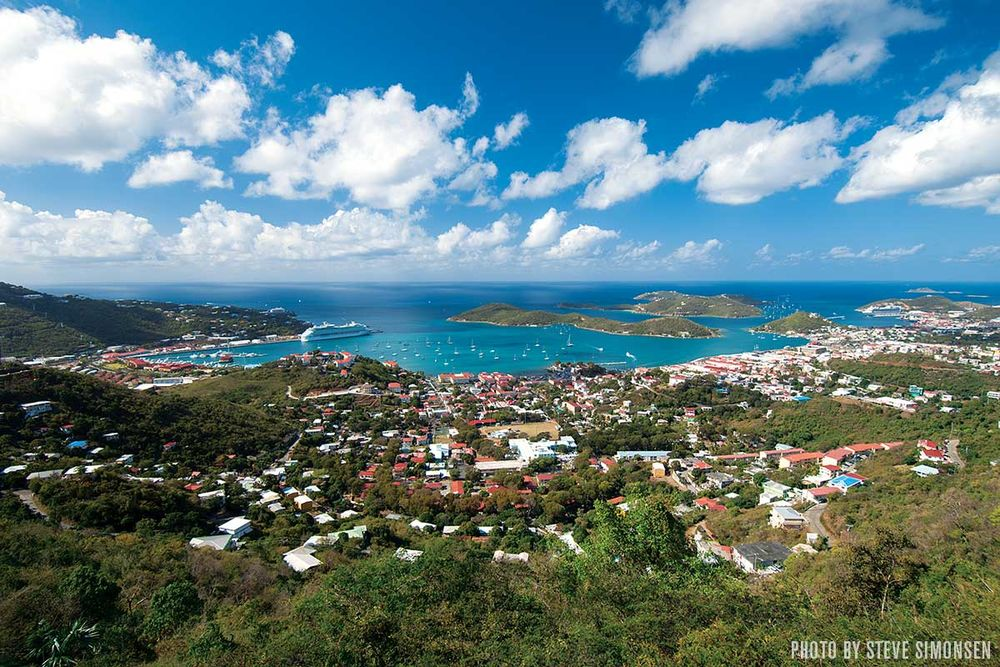 St Thomas S Charlotte Amalie Picture Perfect Harbor Lures Tourists By The Thousands