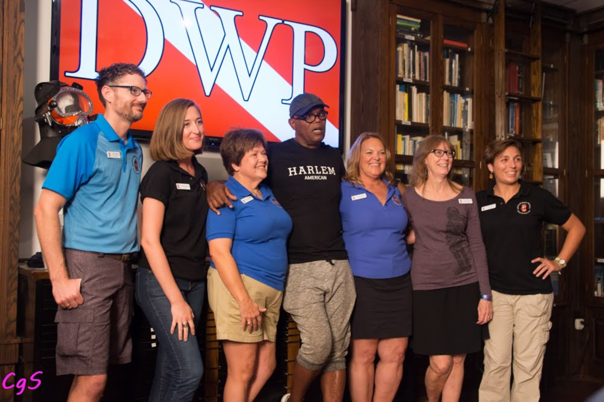 Samuel L. Jackson Visits History of Diving Museum and Diving With a Purpose Exhibit