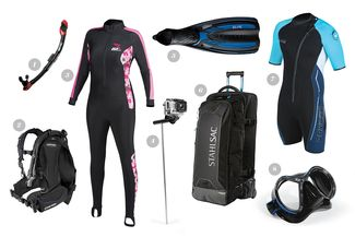 Scuba diving gear for warm-water divers and destinations