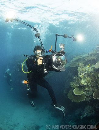 jeff orlowski filming chasing coral on great barrier reef