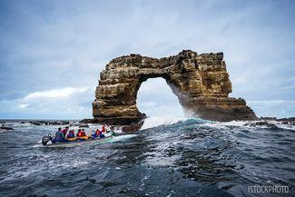 Darwin's Arch in the Galapagos Islands