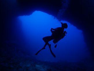 Scuba Diver Blue Hole