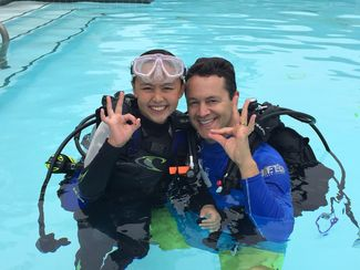 student scuba diver