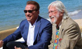 Arnold Schwarzenegger with Jean-Michel Cousteau