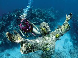 Scuba diving christ abyss key largo