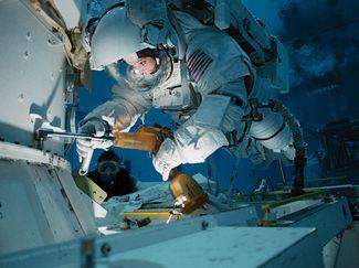 NASA scuba diving training