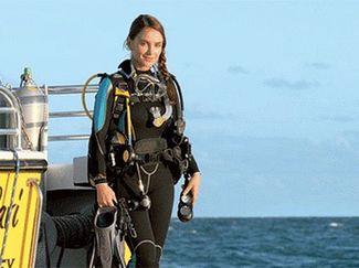 Diver in scuba gear