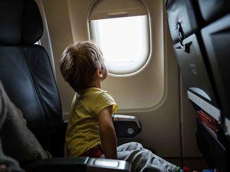 children flying travel