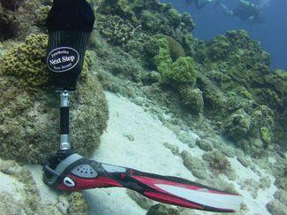prosthetic scuba diving leg