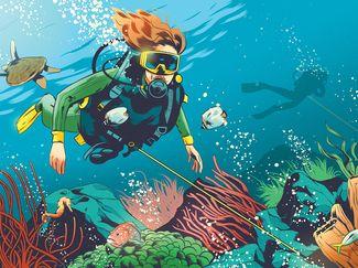 scuba diving heavy current drift