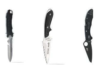 aqua lung seac spyderco dive knives