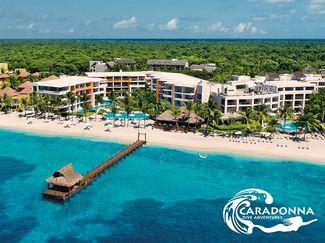 overhead view of Cozumel beach resort