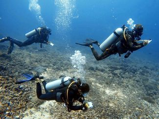 Gili coral reef survey