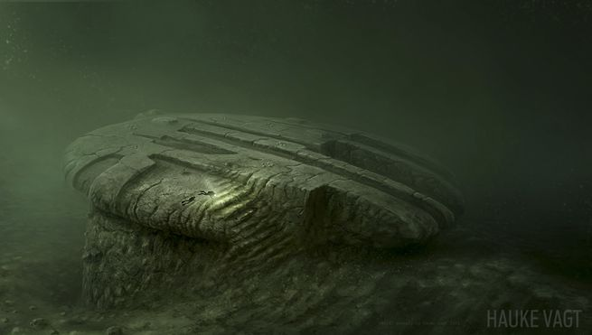 Artist Hauke Vagt's 3D rendering of the Baltic Sea UFO