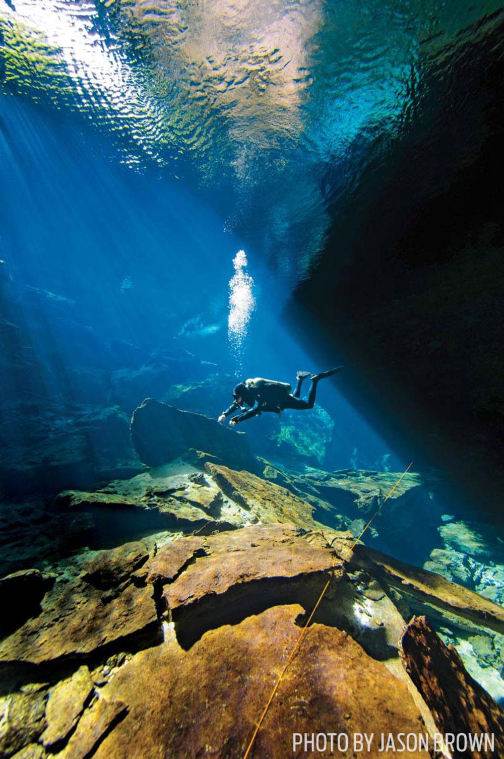 Cenote scuba diving mexico riviera maya