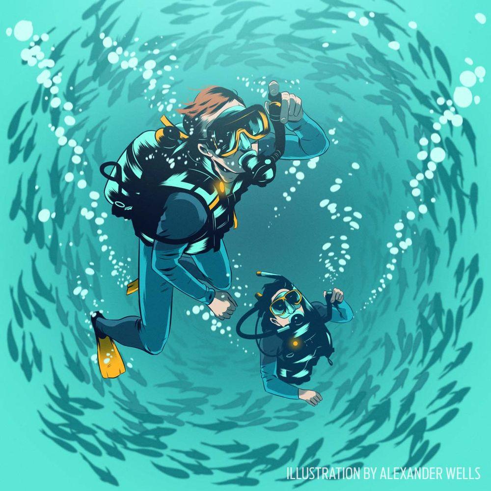 Scuba diving training bottom times