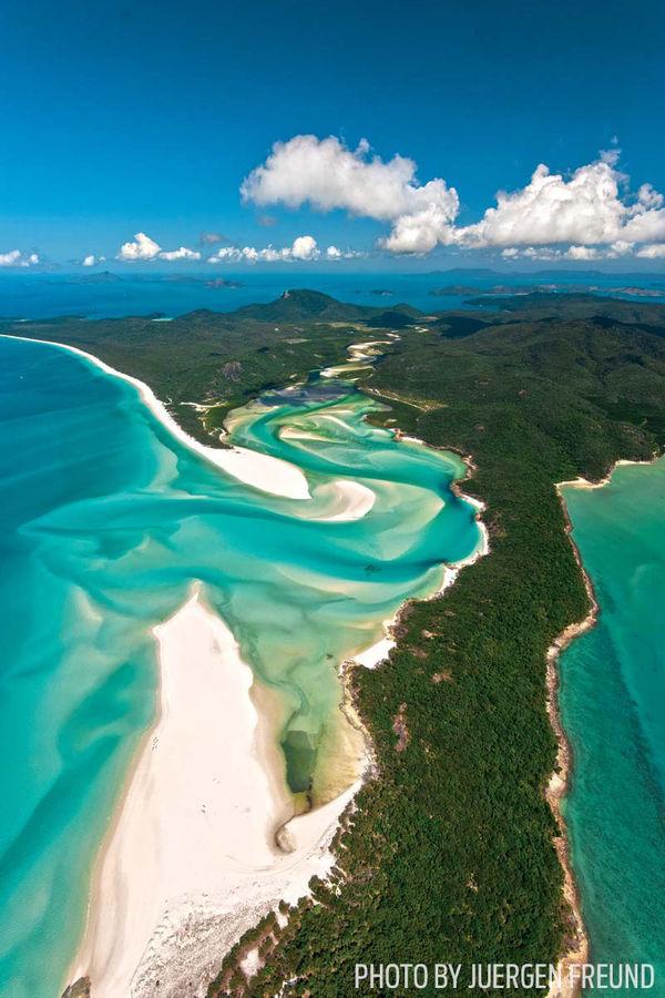 Great Barrier Reef aerial view Australia