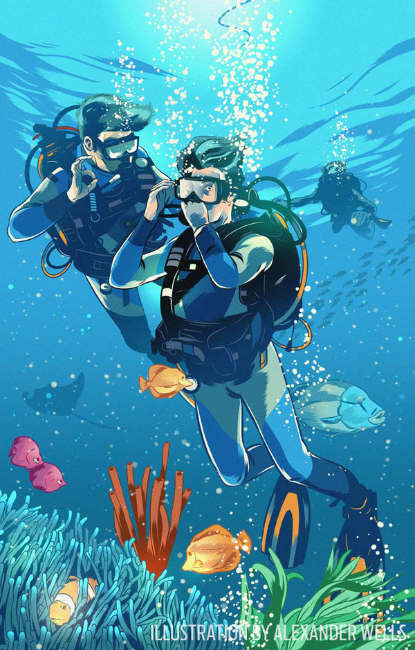 scuba diving training how to deal with panic