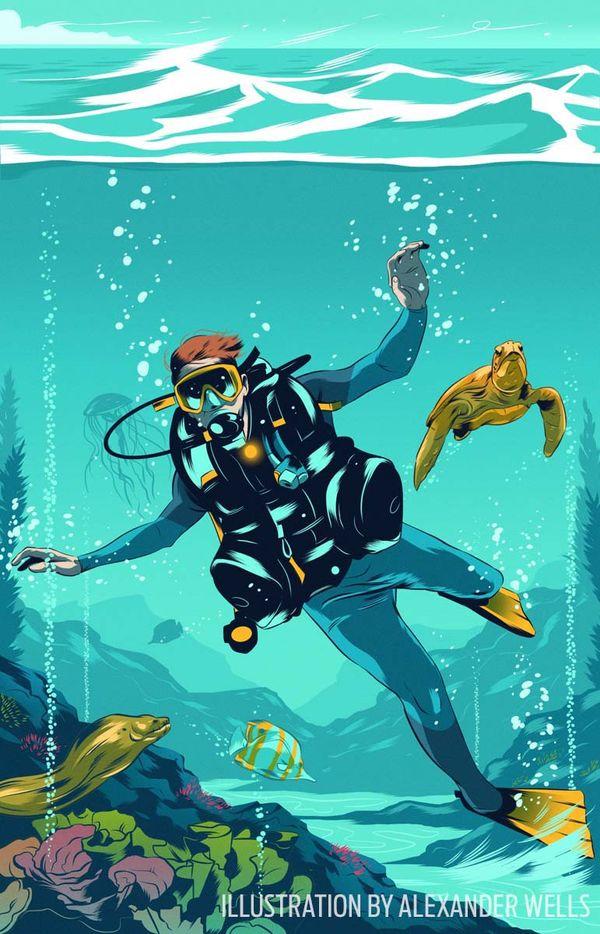 scuba diving training tips saving air