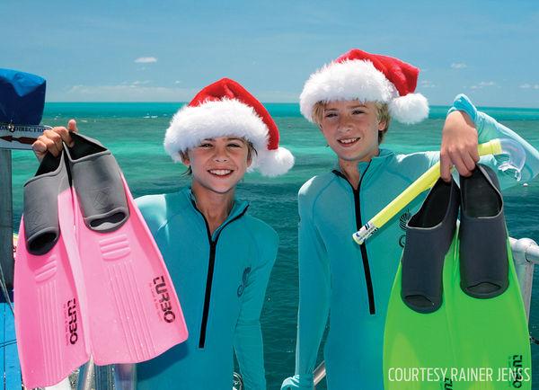 boys scuba diving