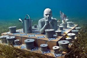 How to dive cancun s underwater museum sport diver for Little garden imports
