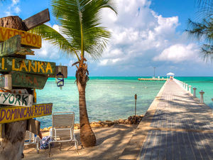 Cayman Islands Beach Sign