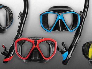 scuba diving masks and snorkels